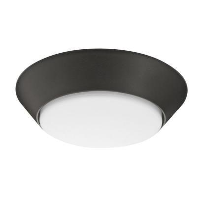 7 Inch Versi LED Textured Bronze Small Round Wet Location Flush Mount 3000K