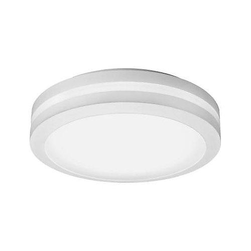 White Outdoor Integrated LED Decorative Flush Mount