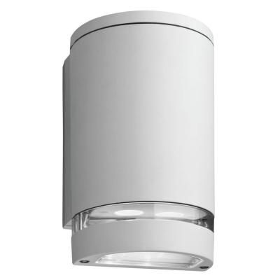 Outdoor LED Wall Mount Cyclinder Downlight - White