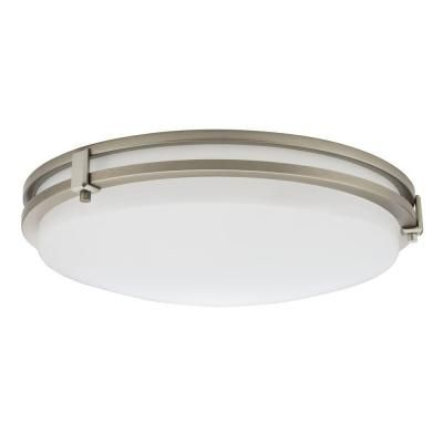 16 Inch  Saturn LED Brushed Nickel Flush Mount - 4000K