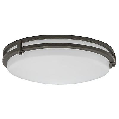Saturn 16 inch round led flush mount fixture in antique bronze