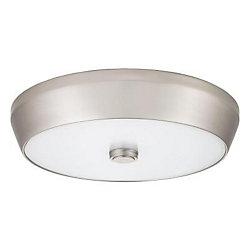 Lithonia Lighting Luminaire DEL Denon creux et encastré en nickel brossé de 38cm (15po) – 3000K