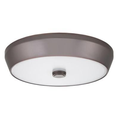 15 Inch  Denon LED Bronze Deep Pan Flush Mount - 4000K