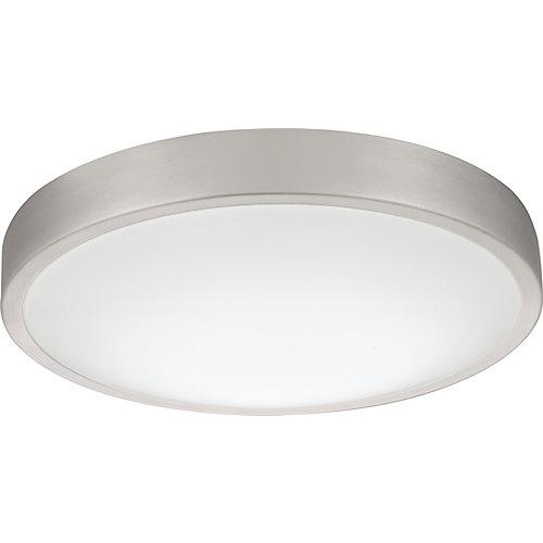 Lacuna 14-inch Round Brushed Aluminum Integrated LED 3000K Flushmount Light Fixture - ENERGY STAR®