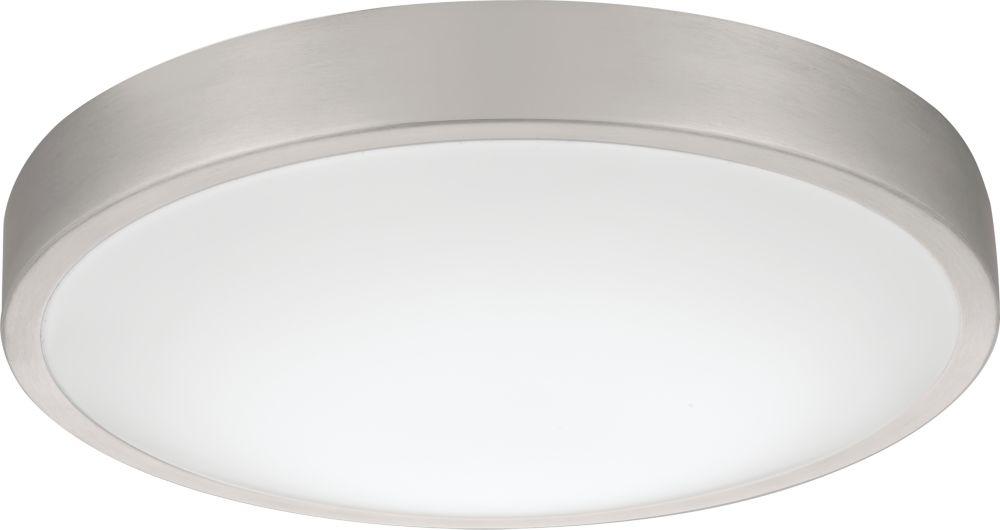 Lithonia Lighting Lacuna 14-inch Round Brushed Aluminum Integrated LED 3000K Flushmount Light Fixture - ENERGY STAR®