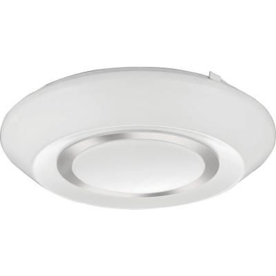 Lithonia Lighting 14 Inch  Glendridge LED Polished Silver Flush Mount - 4000K