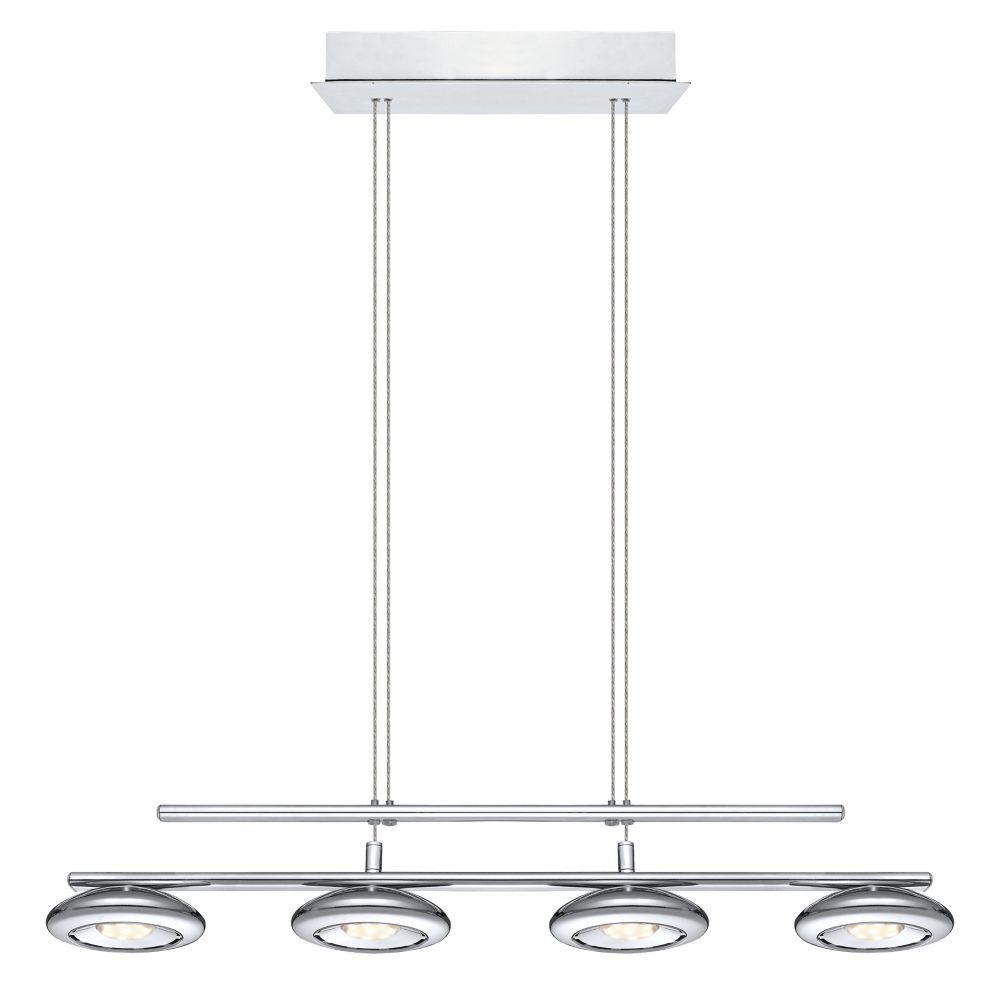 Tarugo luminaire suspendu del 4l fini chrome avec abat for Home depot luminaire suspendu interieur