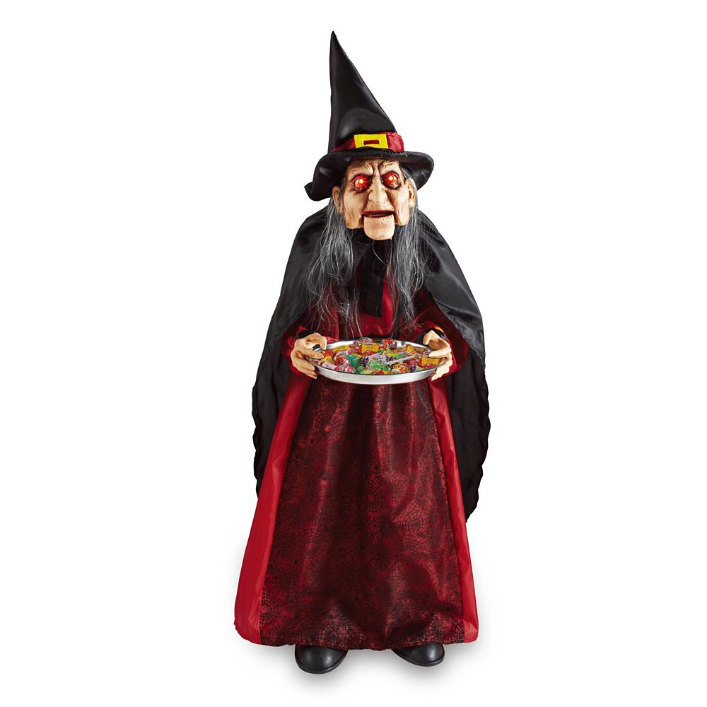36 Inch Bobblehead Witch In Red