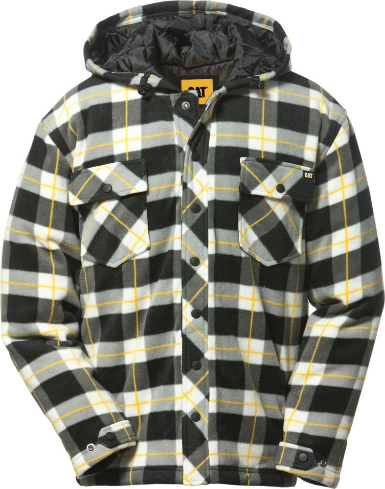 Black Plaid Active Work Jacket L