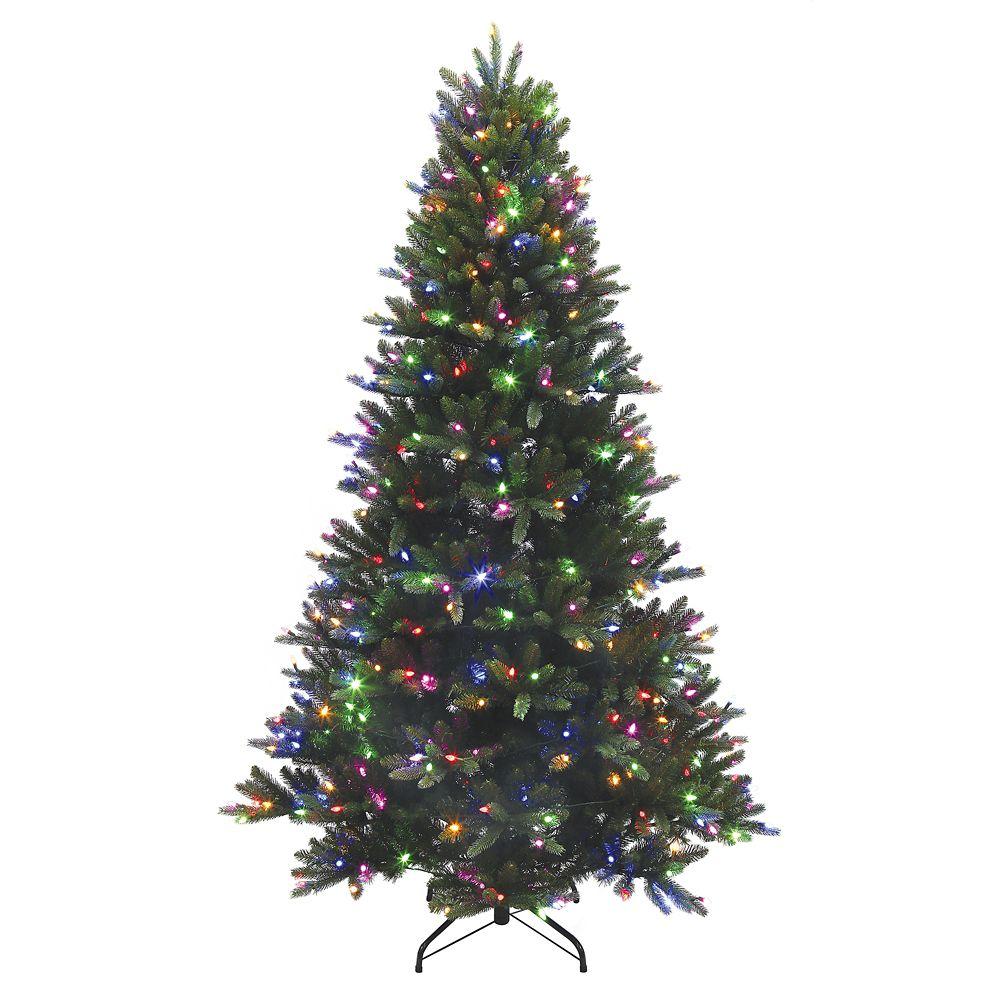 7.5 Feet Natural Frasier Fir Artifical Tree - 4 Function C3 LED lights