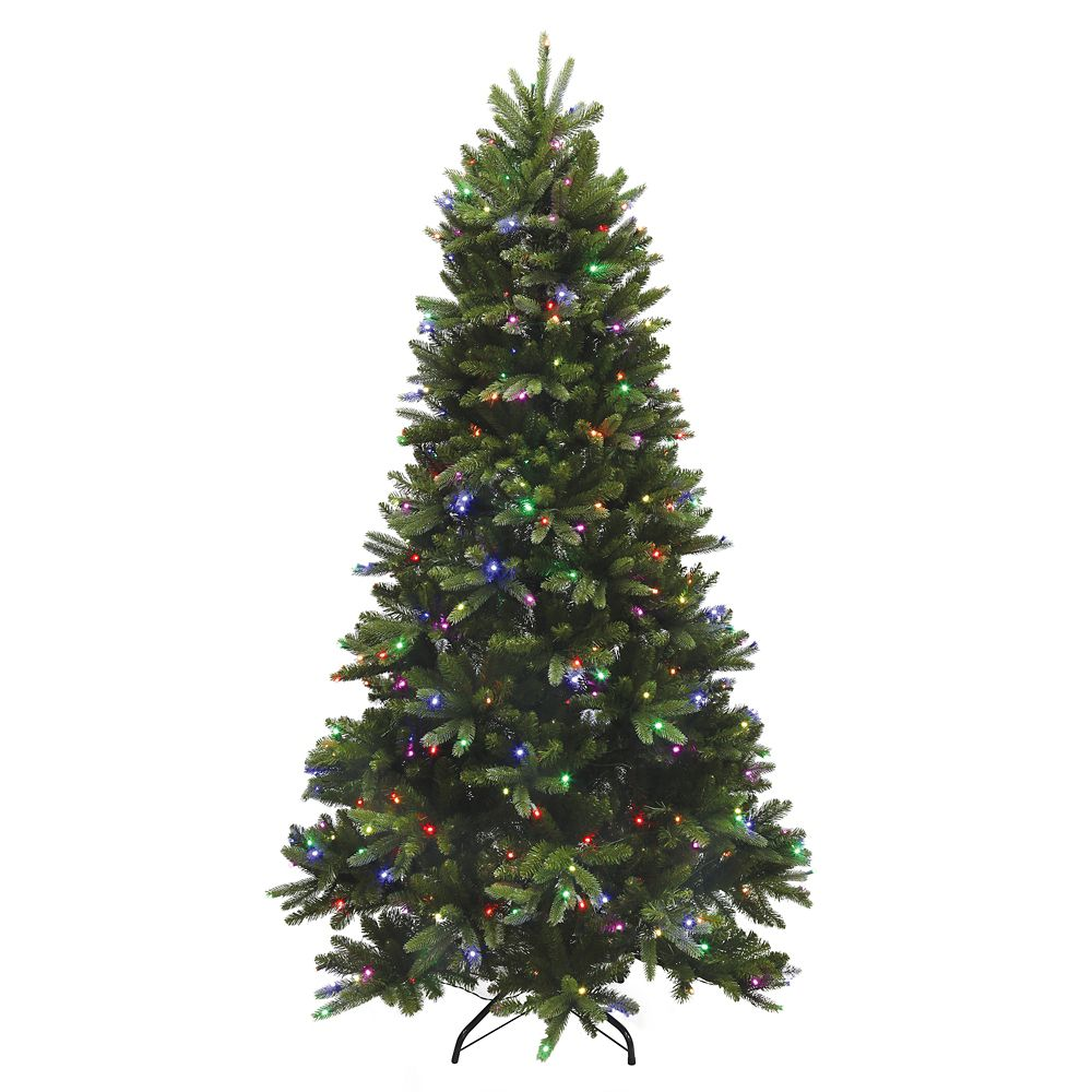 7.5 Feet Natural Fraiser Fir Artificial Tree - 42 Function RGB Lights