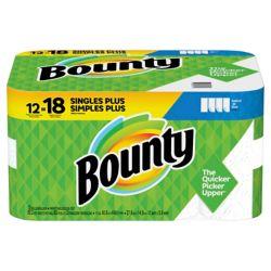 Bounty Essuie-tout, 95 feuilles à 2 épaisseurs par rouleau, 12 rouleaux