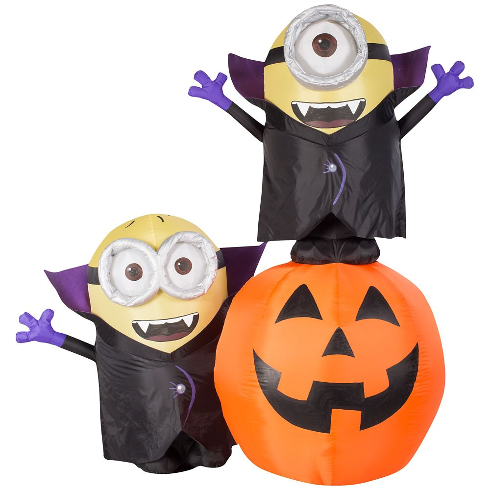 6 Foot Inflatable Vampire Minions On Pumpkin