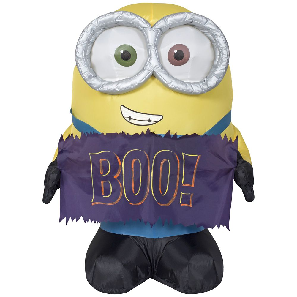 3 Foot Inflatable Minion Bob Holding Sign