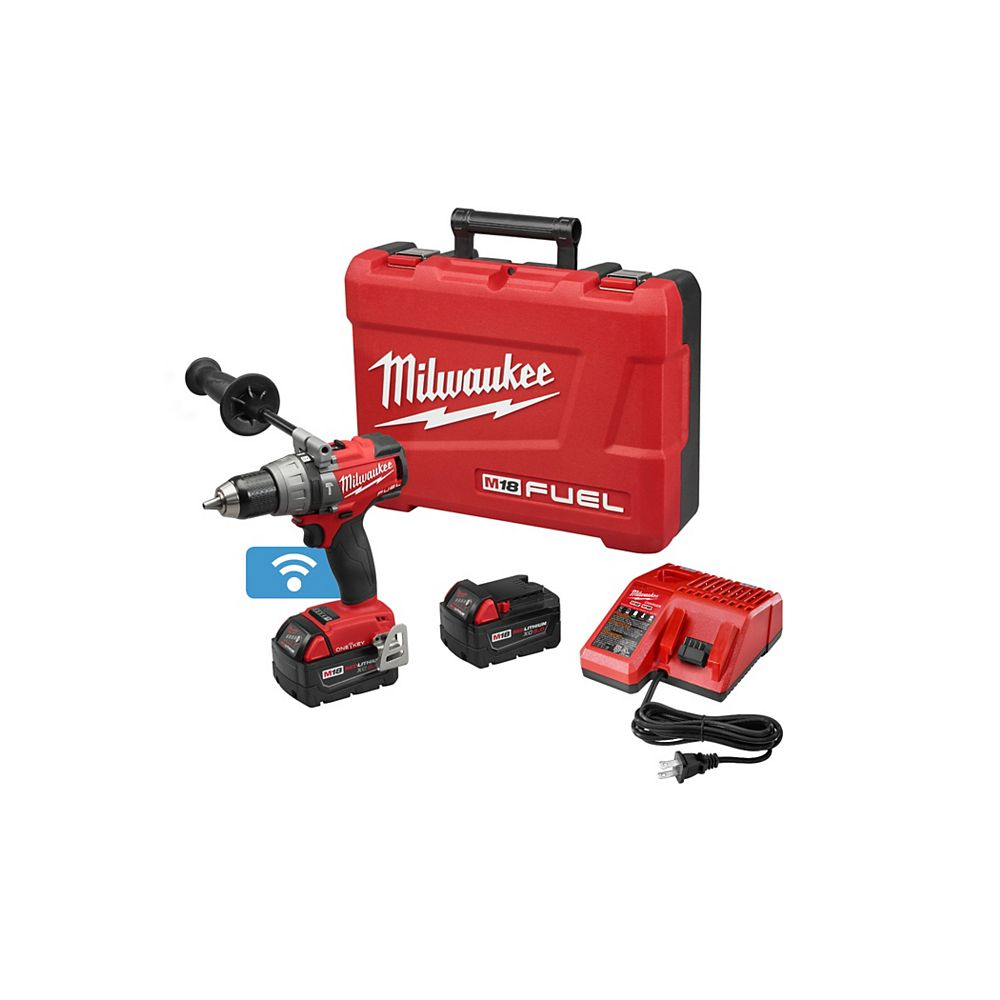 Milwaukee Tool M18 FUEL 1/2 Inch  Hammer Drill/Driver with ONE-KEY Kit