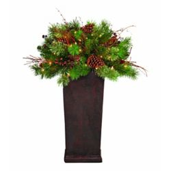 Home Accents Holiday 3 ft. Pre-Lit Decorated Potted Tree