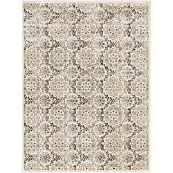 ECARPETGALLERY Rosalyn Off-White 7 ft. 10-inch x 10 ft. 2-inch Indoor Transitional Rectangular Area Rug