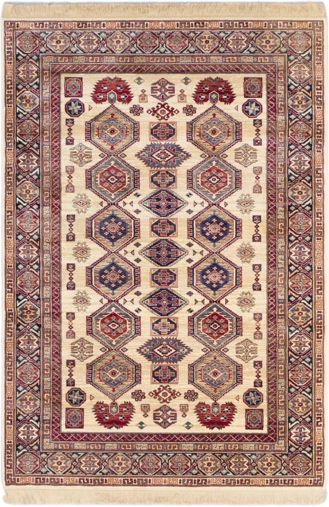 Shiravan Ivory Power Loomed Rug 5 Feet 1 Inch X 7 Feet 7 Inch