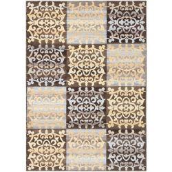 ECARPETGALLERY Carpette d'intérieur, 3 pi 11 po x 5 pi 3 po, style transitionnel, rectangulaire, brun Crown