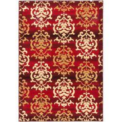 ECARPETGALLERY Carpette d'intérieur, 5 pi 3 po x 7 pi 7 po, style traditionnel, rectangulaire, rouge Crown