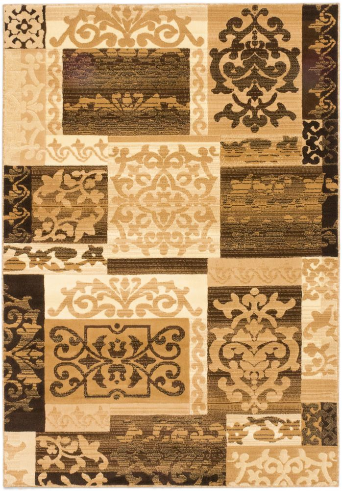 Crown Beige, Cream Power Loomed Rug 5 Feet 3 Inch X 7 Feet 7 Inch