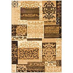 ECARPETGALLERY Crown Brown 5 ft. 3-inch x 7 ft. 7-inch Indoor Traditional Rectangular Area Rug
