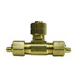 Sioux Chief 1/4 inch Lead-Free Brass Compression Tee with Insert