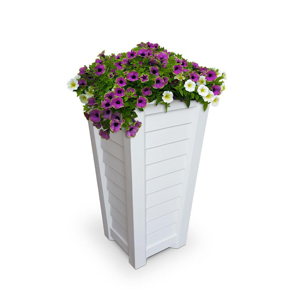 Lakeland Tall Patio Planter - White