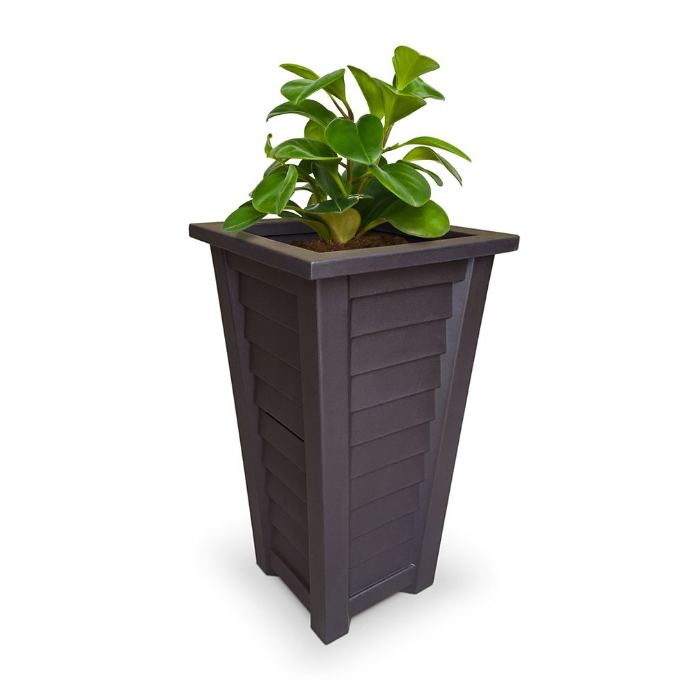 Lakeland Tall Patio Planter - Espresso