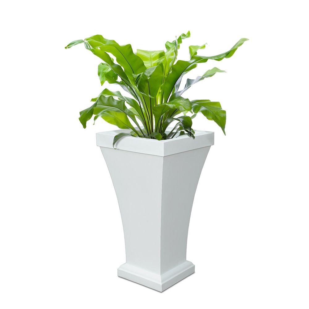 Bordeaux Tall Patio Planter - White