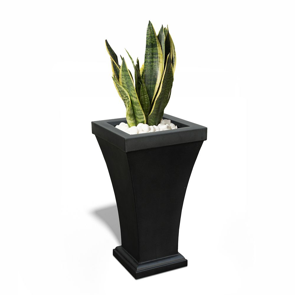 Bordeaux Tall Patio Planter - Black