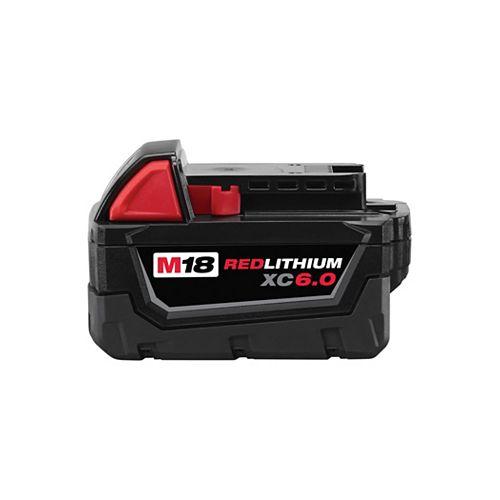 Milwaukee Tool Batterie M18 18V Lithium-Ion à capacité étendue (XC) 6,0 Ah REDLITHIUM