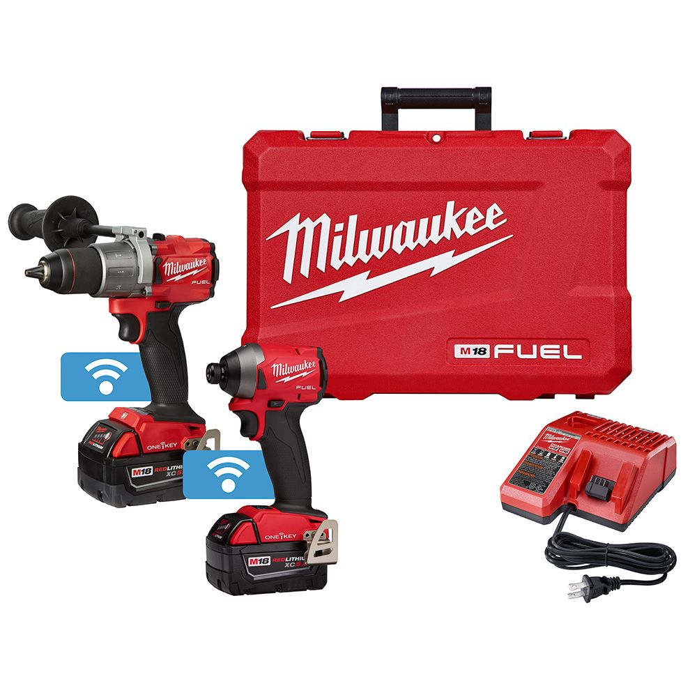 M18 FUEL 2-Tool Combo Kit with ONE-KEY - Free Battery