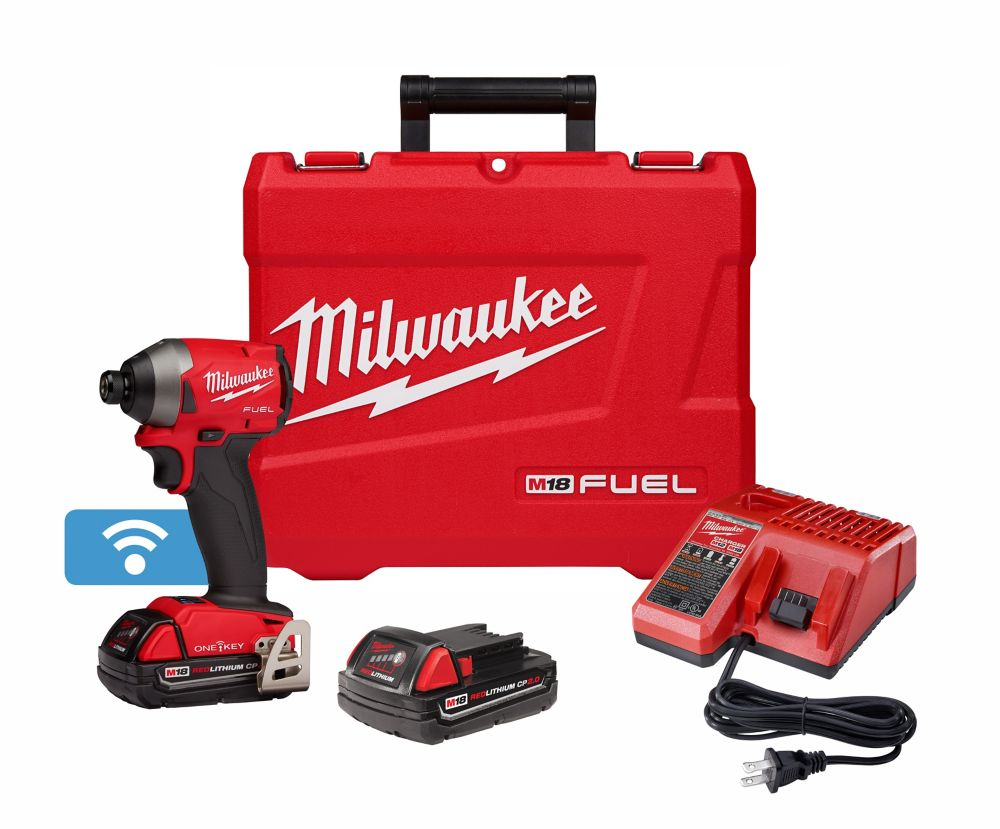 M18 Fuel With One-Key 1/4 Inch Hex Impact Driver Kit - Free Battery