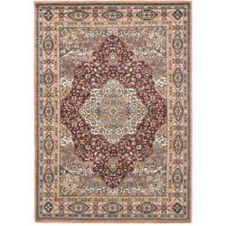ECARPETGALLERY Carpette d'intérieur, 5 pi 6 po x 7 pi 8 po, style traditionnel, rectangulaire, rouge Medallion