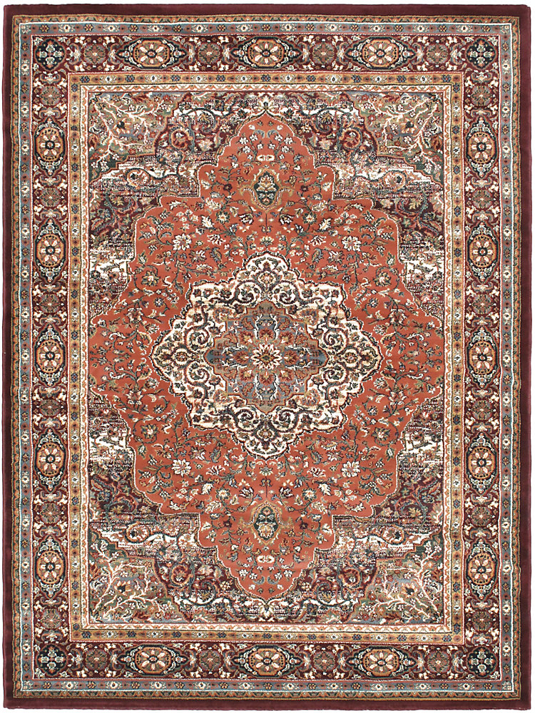 Medallion Copper Red 5 ft. 6-inch x 7 ft. 5-inch Indoor Area Rug