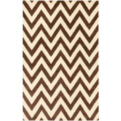 ECARPETGALLERY Carpette d'intérieur, 5 pi x 8 pi, style transitionnel, rectangulaire, brun Monaco