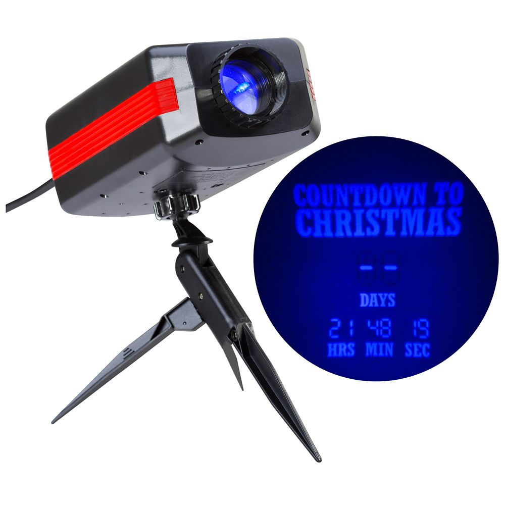 Projection Countdown To Christmas Blue