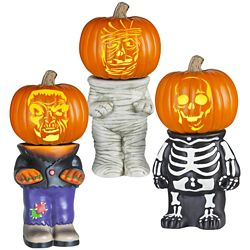 Gemmy Industries Pumpkin Stand Halloween Decoration (Assorted Styles)