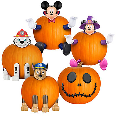 license pumpkin push in halloween jack o lantern decorating kit assorted styles the home depot canada