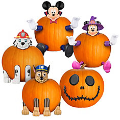Pumpkin Push-In Halloween Jack-o-Lantern Decorating Kit (Assorted Styles)