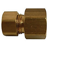 1/4 inch x 1/4 inch Brass Compression x Female Flare Adapter