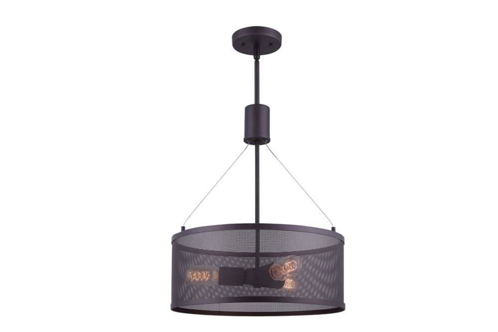 Acton 3L ORBChandelier with Mesh Shade