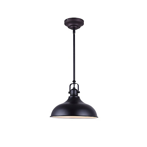 Sussex 1-Light Black Integrated LED Pendant Light Fixture