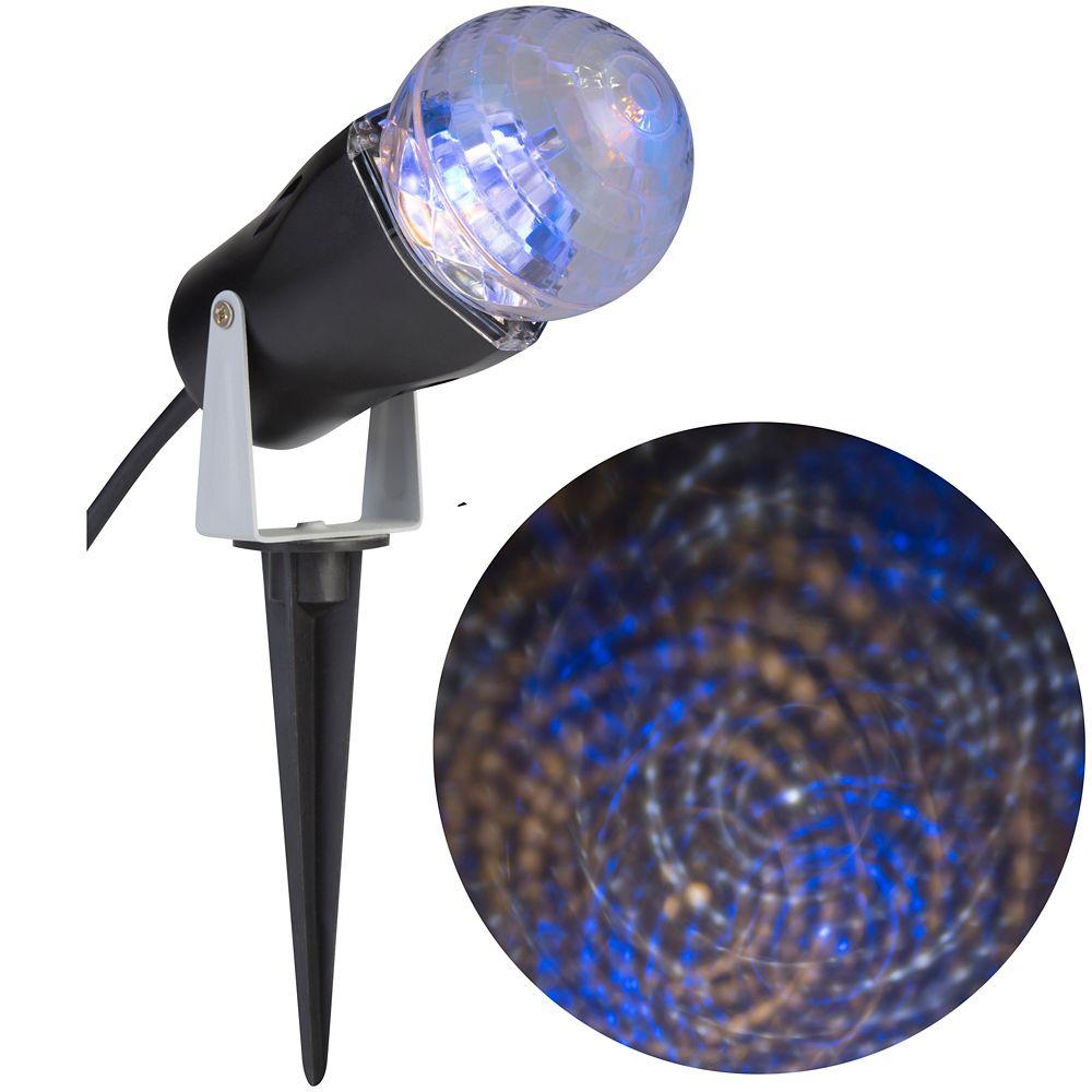 Kaleidoscope 1 LED Spotlight-Swirls Blue/White