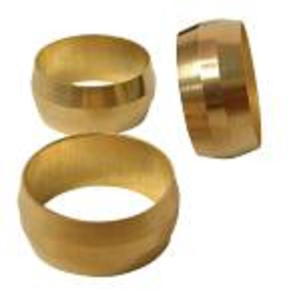 Sioux Chief 1/4 inch Brass Compression Sleeves 3-Pack
