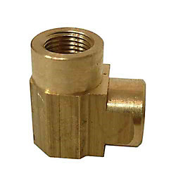 Sioux Chief 1/8 inch x 1/8 inch Lead-Free Brass 90-Degree FPT x FPT Elbow