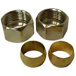 Sioux Chief 3/8 inch Chrome-Plated Brass Compression Nuts with Sleeves (2-Pack)