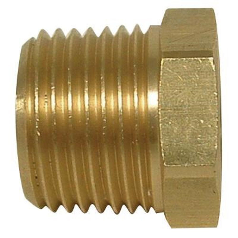 Sioux Chief 1/4 inch x 1/8 inch Lead-Free Brass MIP x FIP Hex Bushing