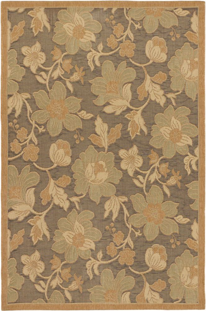 Versailles Antique Dark Brown, Light Brown Power Loomed Rug 4 Feet 9 Inch X 7 Feet 3 Inch